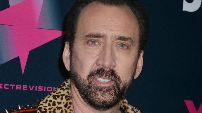 Nicolas Cage på spesiell screening av Color Out Of Space i 2020.