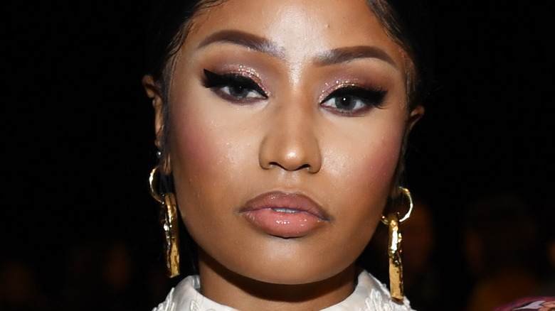 Nicki Minaj deltar på rullebaneshowet Marc Jacobs Fall 2020 under New York Fashion Week