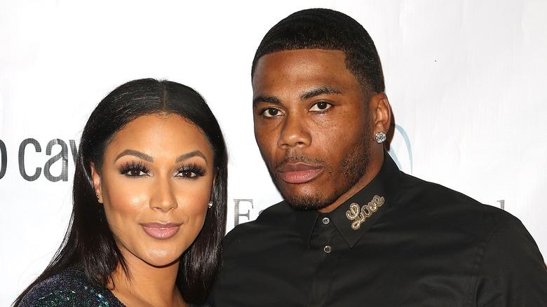 Nelly og Shantel Jackson på et arrangement