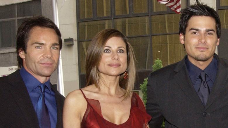 Jay Pickett, Marie Wilson og Eddie Matos poserte 2002