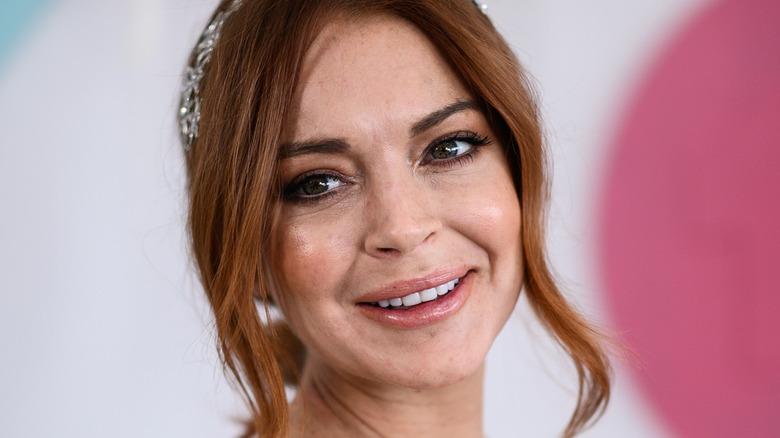 Lindsay Lohan smiler