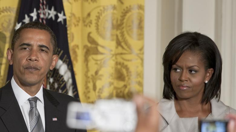 Barack og Michelle Obama i det hvite huset