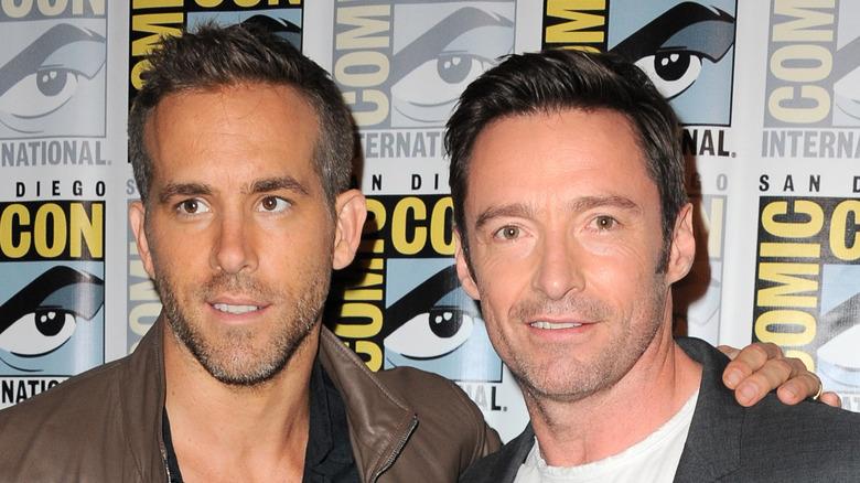 Ryan Reynolds og Hugh Jackman på Comic Con