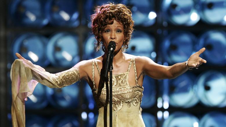 Whitney Houston opptrådte