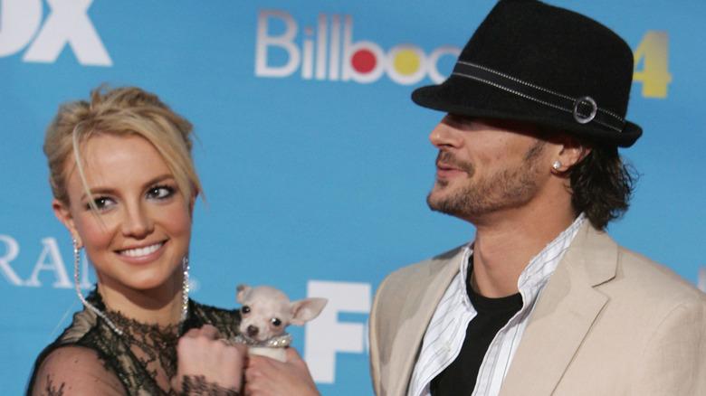 Britney Spears og Kevin Federline på den røde løperen