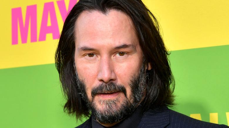 Keanu Reeves med skjegg