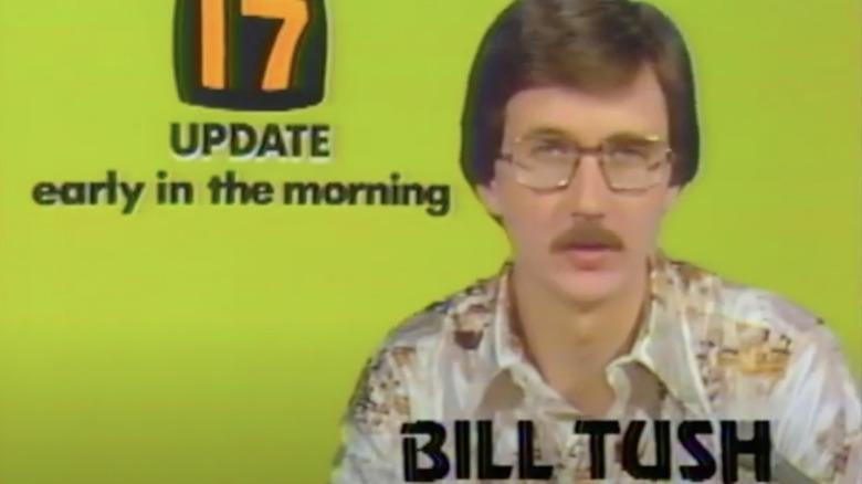 Bill Tush leser nyheter