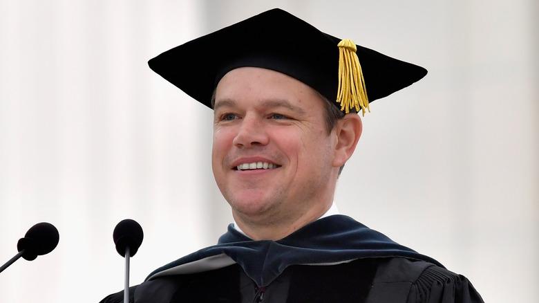 Matt Damon på MIT i 2016