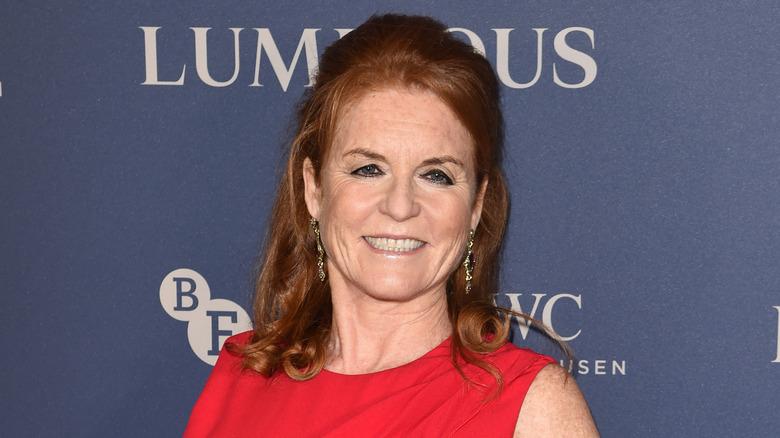 Sarah Ferguson smilte i 2019