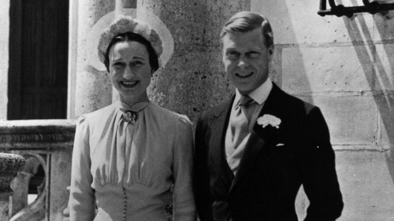 Wallis Simpson og kong Edward VIII på bryllupsdagen
