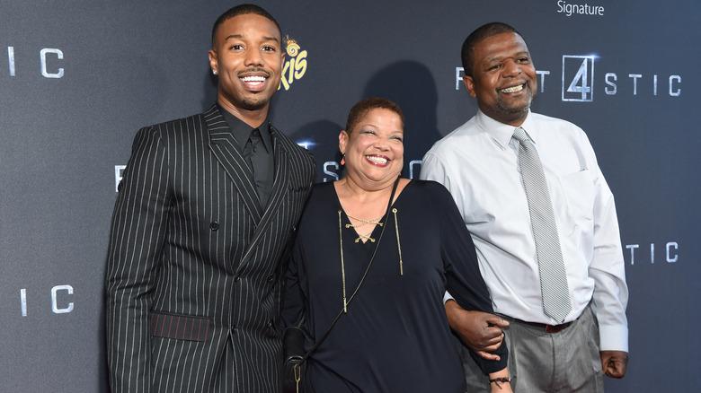 Michael B Jordan med foreldrene