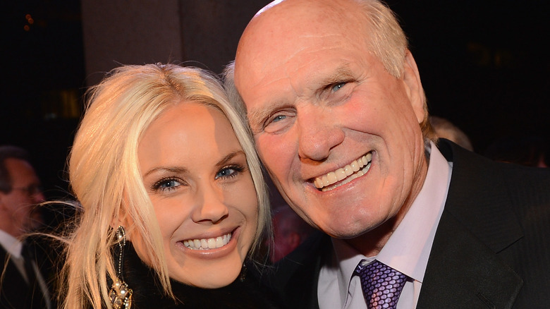 Rachel og Terry Bradshaw smiler