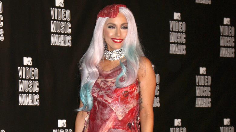 Lady Gaga i kjøttkjolen