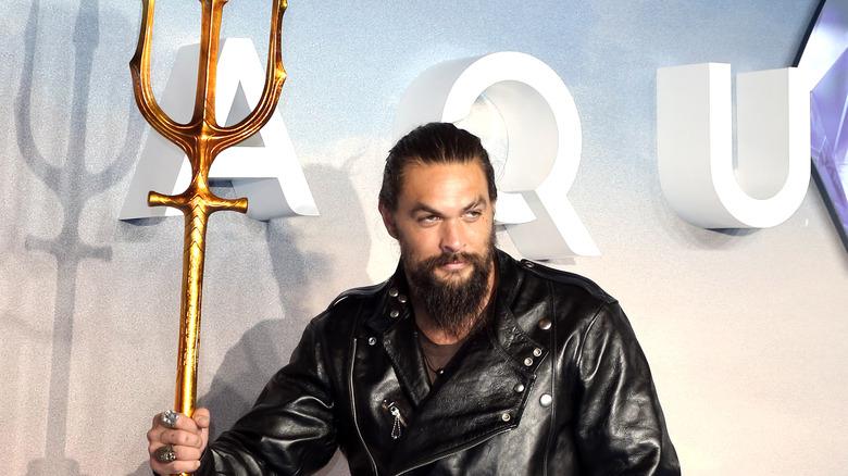 Momoa på Aquaman verdenspremiere i 2018