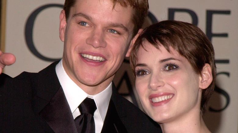 Matt Damon Winona Ryder smiler