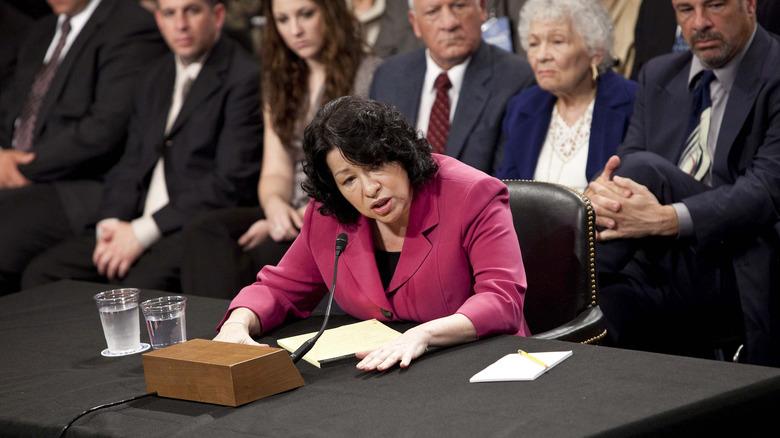Sonia Sotomayor på konfirmasjonshøringen