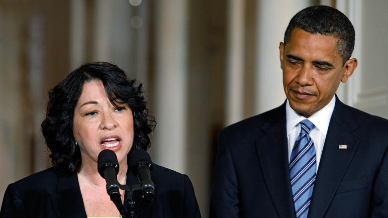 Sonia Sotomayor og Barack Obama