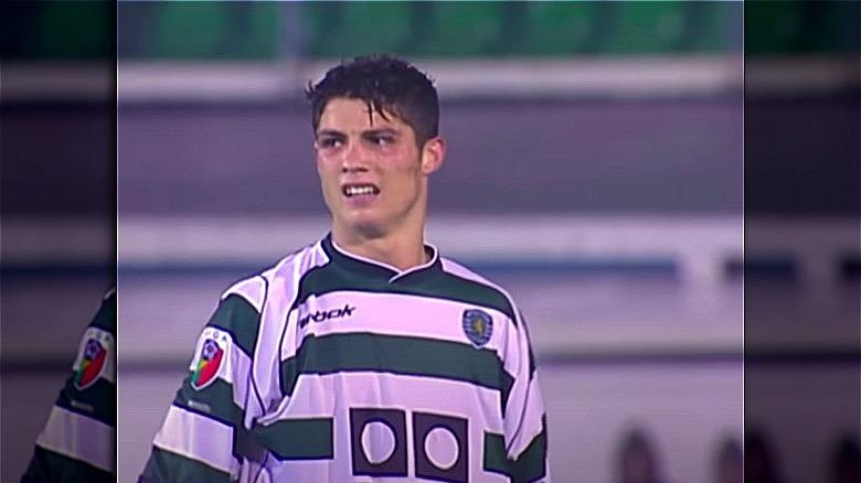 Cristiano Ronaldo spilte fotball som tenåring