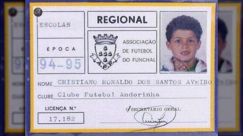 Cristiano Ronaldos første klubblisens fra 1994