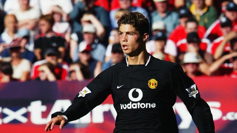 Cristiano Ronaldo spilte for Manchester United i 2003