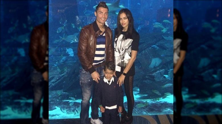 Cristiano Ronaldo, Irina Shayk og Junior