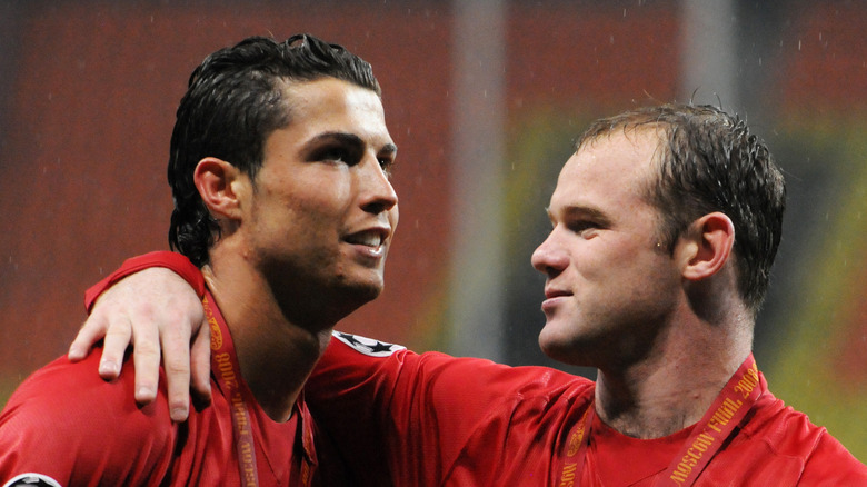 Cristiano Ronaldo og Wayne Rooney i 2008