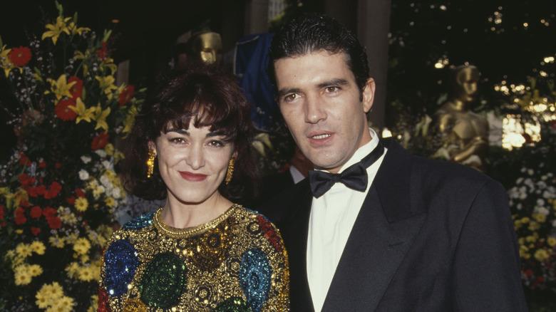 Antonio Banderas og Ana Leza poserer