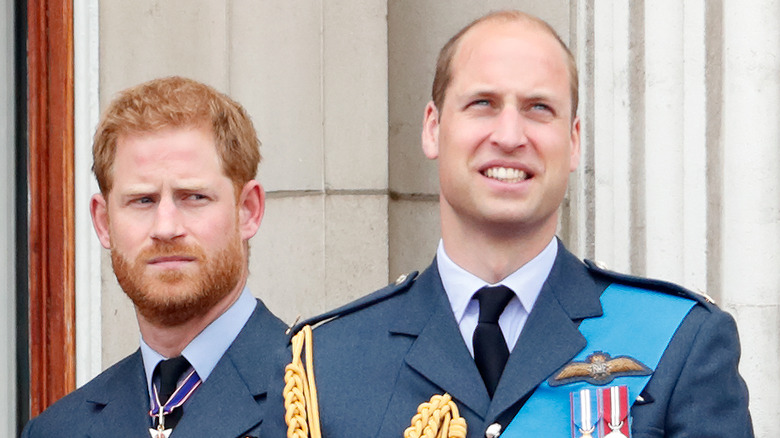 rince Harry, hertugen av Sussex og prins William, hertugen av Cambridge og så på en flysundtid for å markere hundreårsjubileet for Royal Air Force