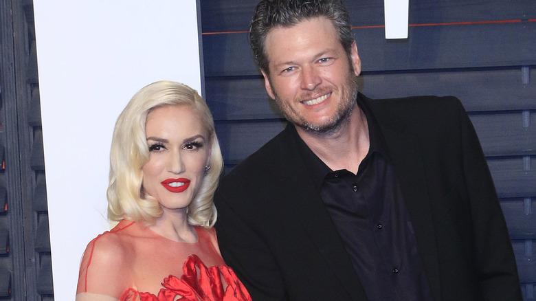 Gwen Stefani og Blake Shelton på Vanity Fair -festen 2016