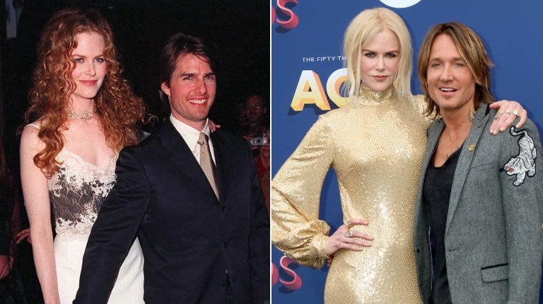 Nicole Kidman med Tom Cruise, Nicole Kidman med Keith Urban