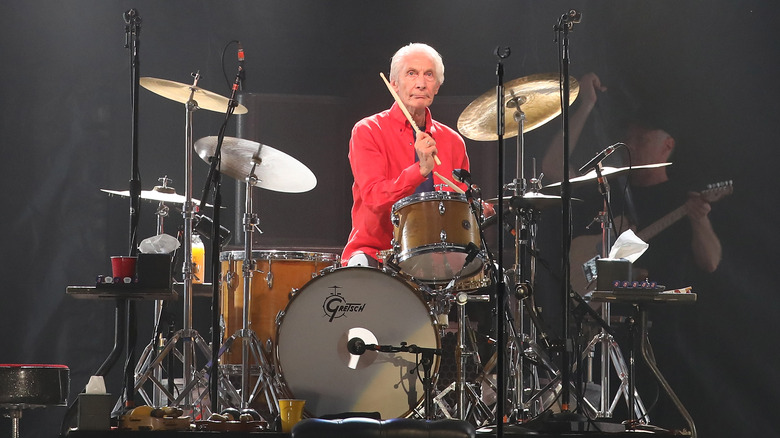 Charlie Watts spilte trommer i 2019