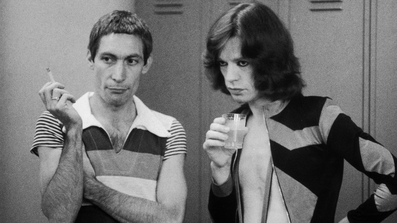 Charlie Watts og Mick Jagger i 1975