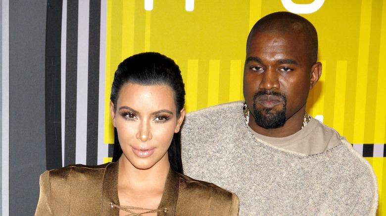 Kim Kardashian og Kanye West på den røde løperen