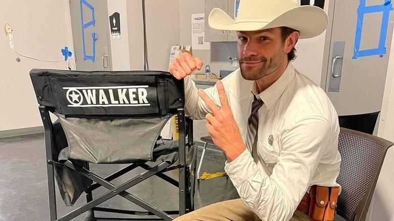 Jared Padalecki i sitt Walker -kostyme