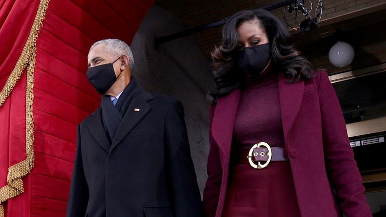 Barack og Michelle Obama ved innvielsen