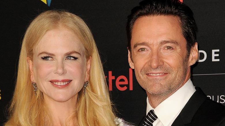 Nicole Kidman og Hugh Jackman på den røde løperen