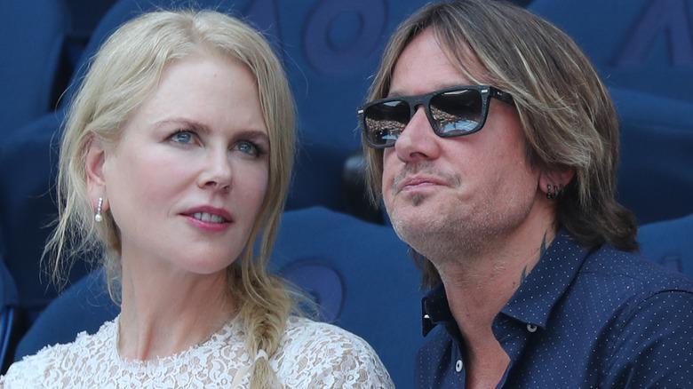 Nicole Kidman og Keith Urban deltar i tenniskamp
