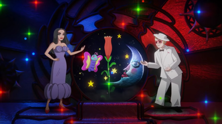Dua Lipa og Elton John som tegneseriefigurer