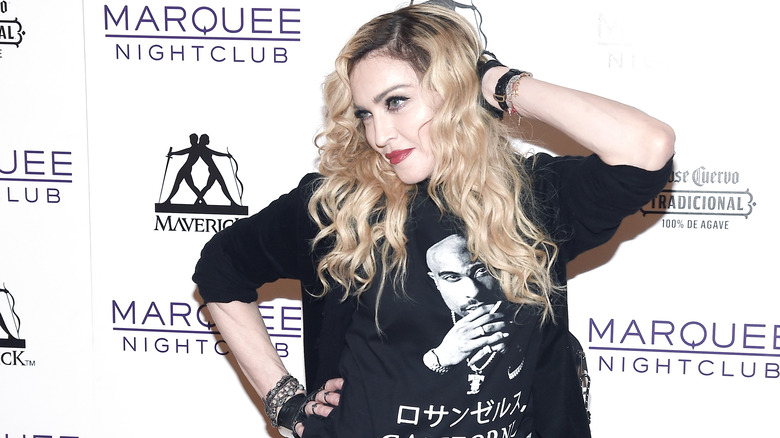 Madonna på rød løper
