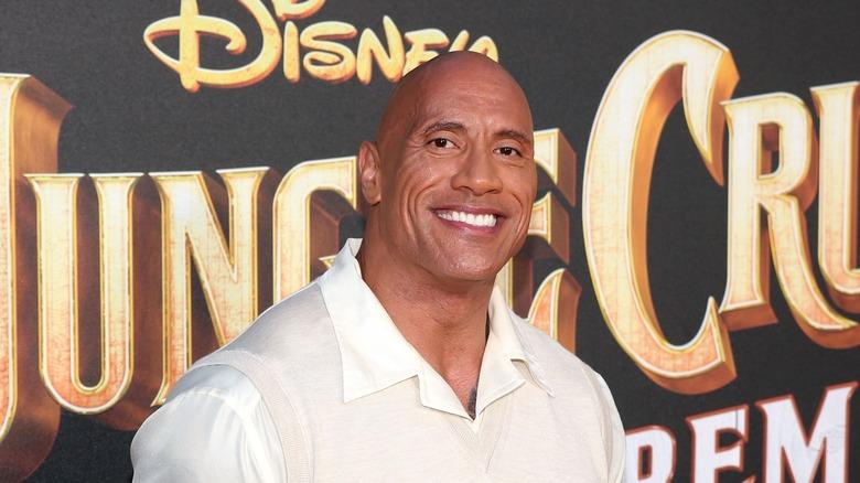 The Rock på premiere