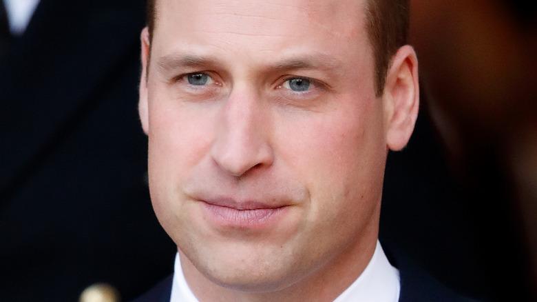 Prins William seriøst uttrykk