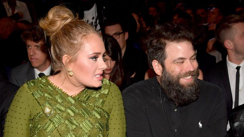 Adele og Simon Konecki deltok på The 59th GRAMMY Awards