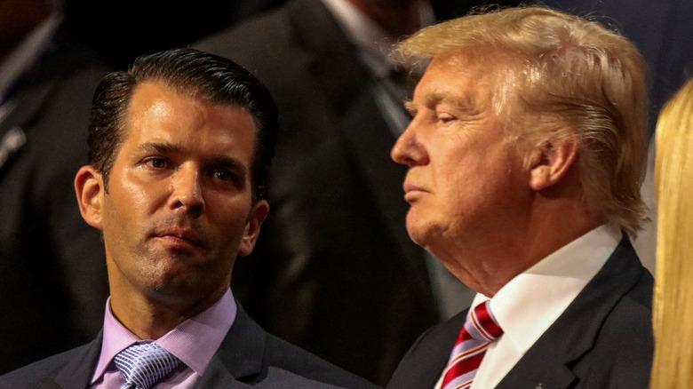 Donald Trump Jr. og faren stirrer ut i verdensrommet