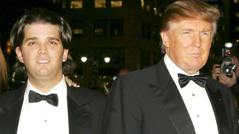 Donald Trump Jr. og faren hans