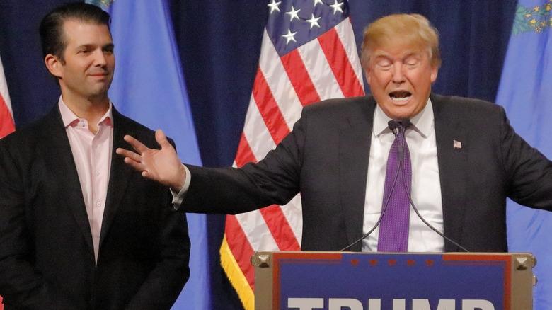 Donald Trump Jr. og faren