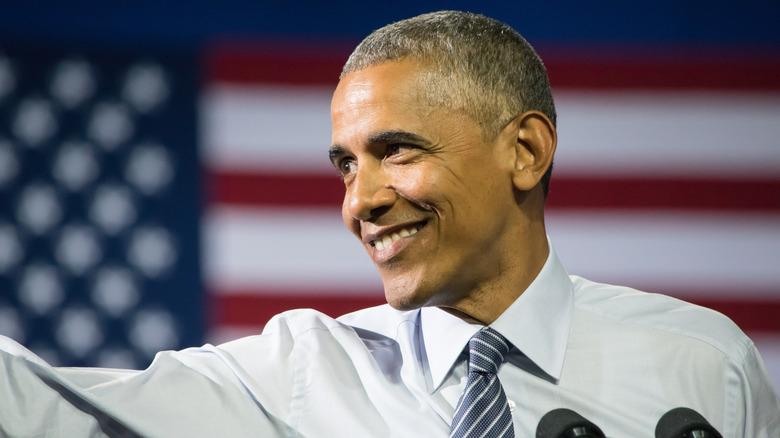 Barack Obama smilte