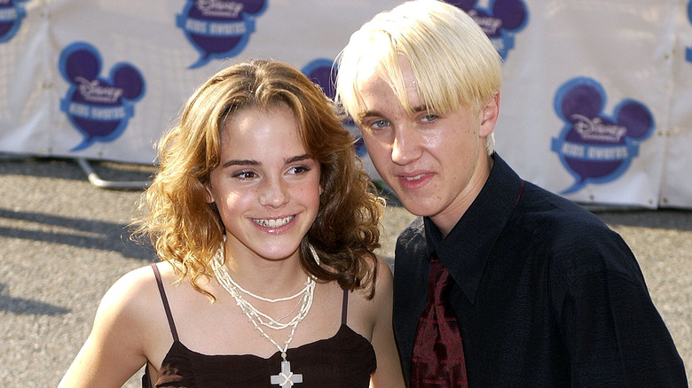 Emma Watson og Tom Felton i 2003.