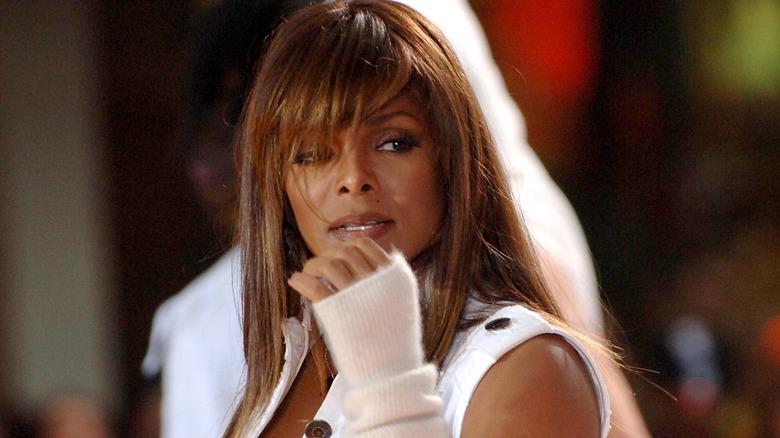 Janet Jackson opptrådte på scenen