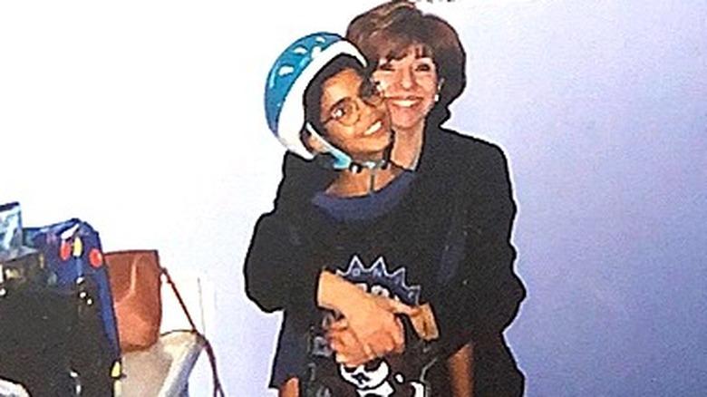Drake og Sandi Graham klemmer
