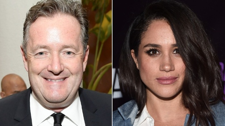 Piers Morgan og Meghan Markle poserer
